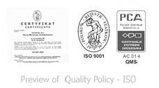 Quality policy - ISO 9001:2008